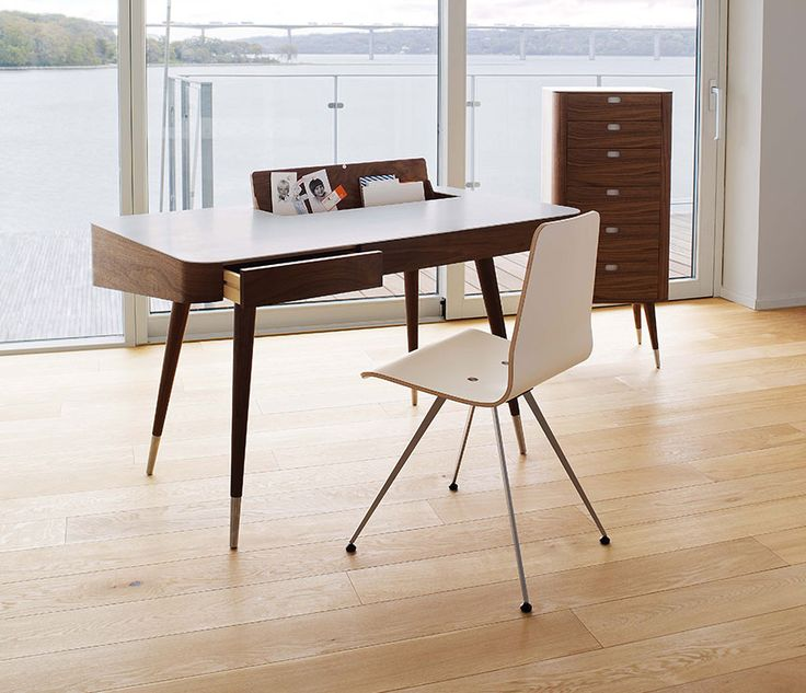 modern retro furniture. walnut modern retro desk from denmark furniture