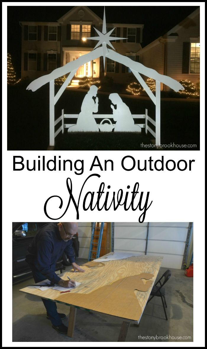 Building an outdoor nativity via @thestonybrook #DIDI