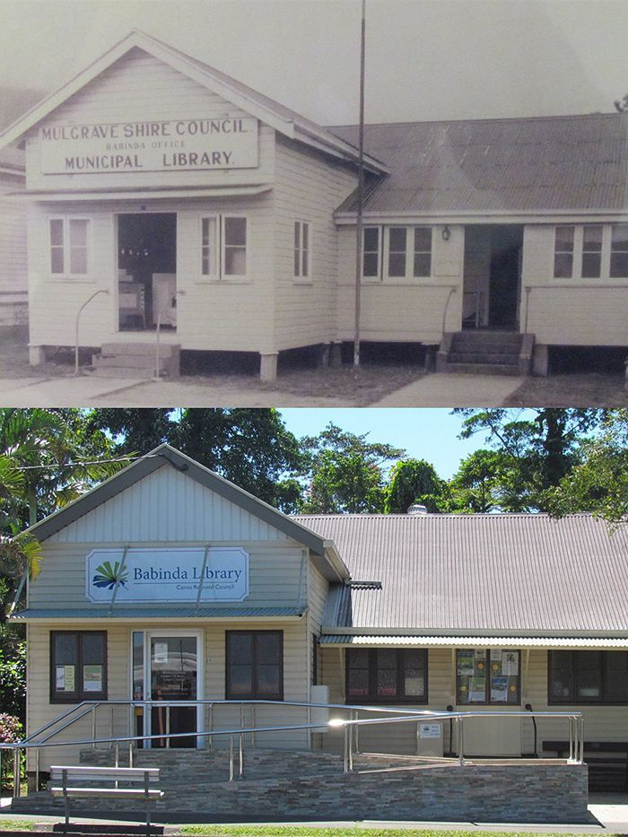 Now and then library