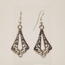 EQ120 Antique Tibetan Silver 4.5cm*1.8cm Vintage Earrings For Women Girls 2014 New Jewelry Bijouterie(China (Mainland))