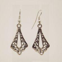 EQ120 Antique Tibetan Silver 4.5cm*1.8cm Vintage Earrings For Women Girls 2014 New Jewelry Bijouterie(China (Mainland))