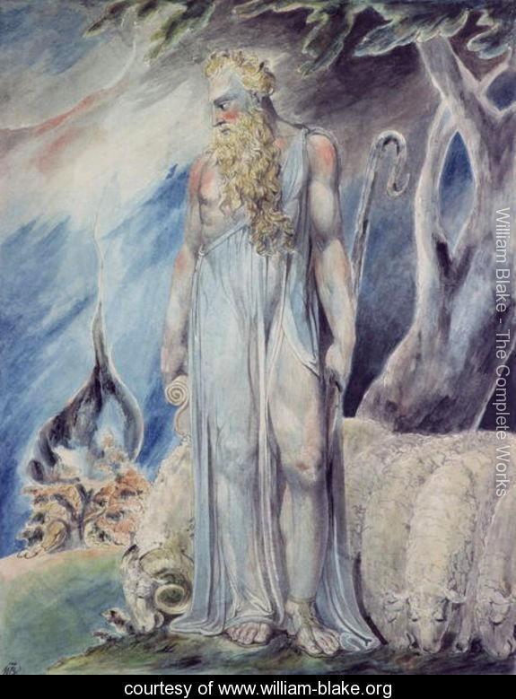 Moses And The Burning Bush William Blake