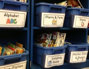 5 Steps to organizing the classroom library.