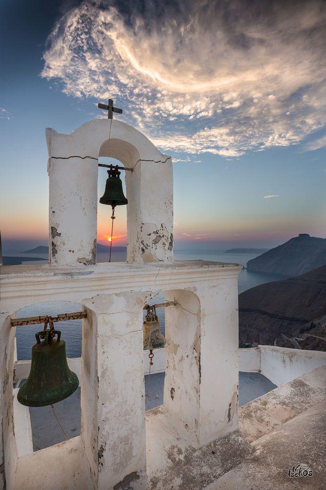 Sunset in Fira - Santorini, Greece
