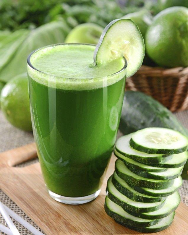 Uppfriskande juice med gurka & bubbelvatten. Innehåller 55kcal.
