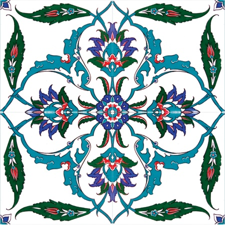 Floral Delight Turkish Tile