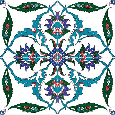 Floral Delight Turkish Tile