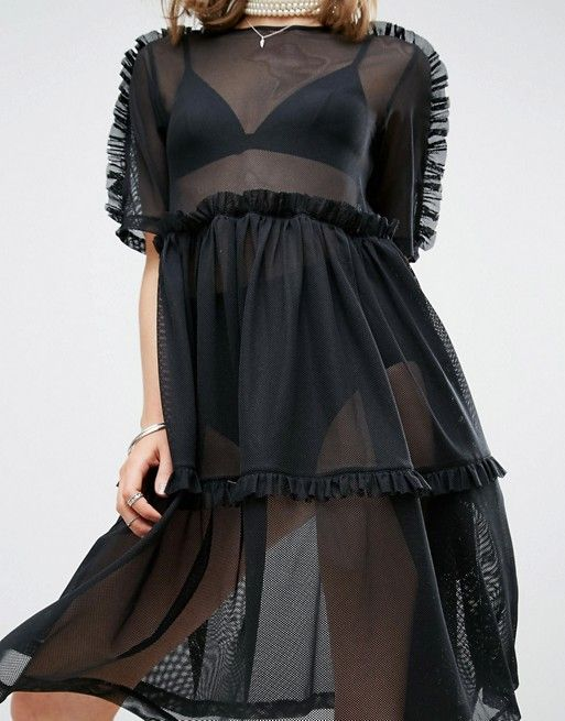 v into this alexander mcqueen knockoff also, you are allowed to wear a slip under this if you feel like it idc