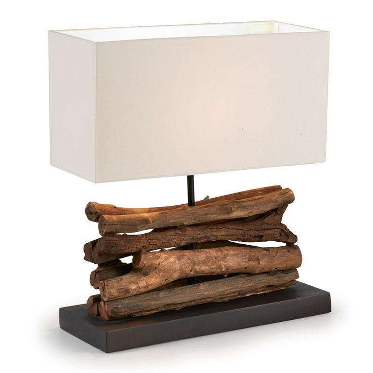 lampara de mesa en madera - Buscar con Google