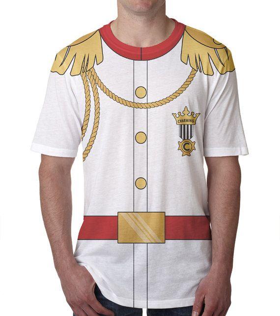 Volwassen Prins Charming Shirt mannen gepersonaliseerde witte