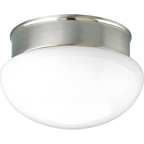 Classic Globe Fixture Features White Opal Glass Diffuser. Great For  Hallways, Utility Rooms Or