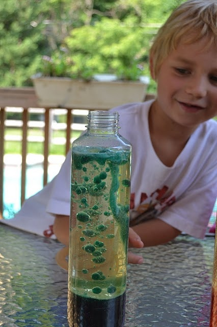 Make your own lava lamp-- good babysitting craft