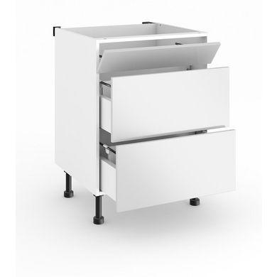 Meuble de cuisine sous évier L.60 cm 1 faux tiroir TWIST - Cuisine