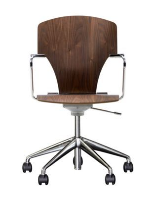 egoa task chair soft wheels wood