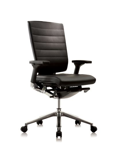 York Executive Chair from Seated - The York Executive Chair is an stylish addition to any corporate office, featuring a lockable synchronised swung mechanism, adjustable Lumbar support and seat slide. The Chair is finished in soft and supple Italian Leather with a ribbed stitching on the backrest and is standard with 3D Adjustable arms with padded leather arm pads and a polished aluminium 5 star base. www.seated.com.au
