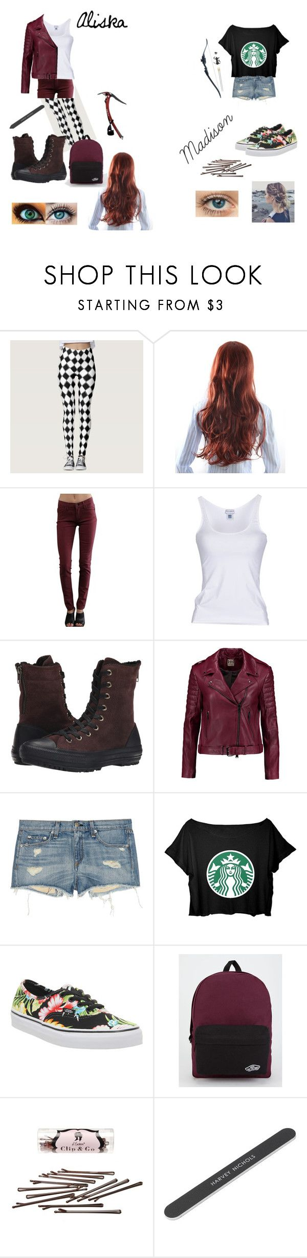 """""""Different Sisters"""" by crittersmommyrocks ❤ liked on Polyvore featuring James Jeans, Dolce&Gabbana, Converse, Haute Hippie, rag & bone, Vans and L. Erickson"""