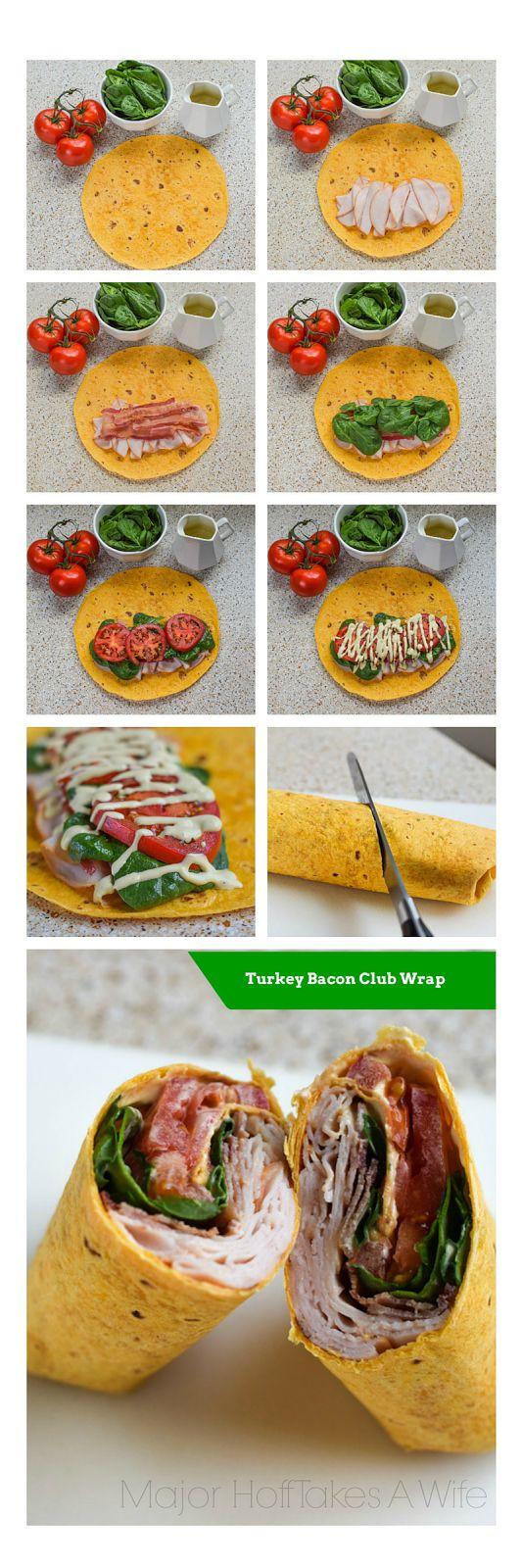 Turkey Bacon Club Wrap featuring Hidden Valley Ranch Avocado Dressing