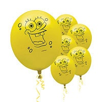 SpongeBob Party Supplies - SpongeBob Birthday - Party City.....could draw on yellow balloons!