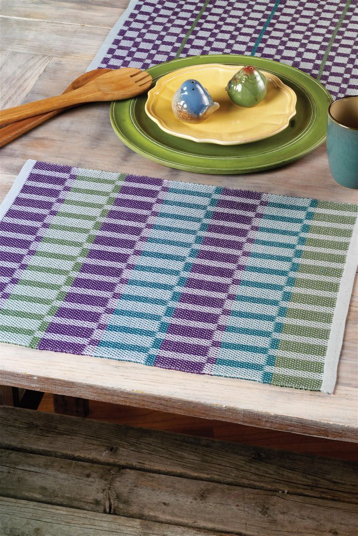 Summer and Winter Placemats from Next Steps in Weaving: What You Never Knew You Needed to Know by Pattie Graver