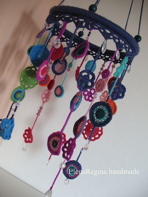 crochet mobileCrochet Ideas, Crochet Motif, Crochet Mobiles, Cute Ideas, Crochet Baby, Wind Chimes, Embroidery Hoop, Baby Gift, Crafts