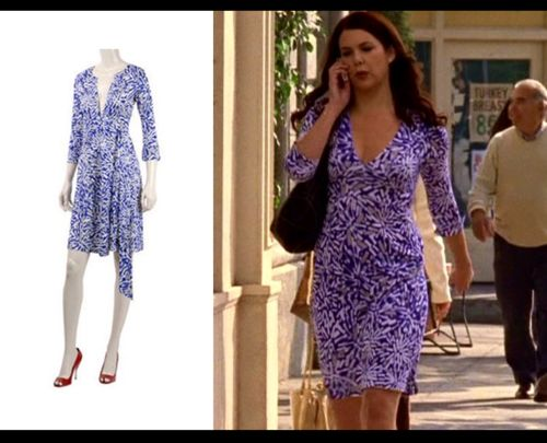 Love the DVF wrap dress that Lorelai is wearing!