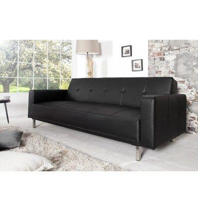 Ce canapé d'angle design et moderne est conçu en simili cuir qui donnera une touche de cocooning à votre intérieur. Son revêtement en simili cuir noirde trè...