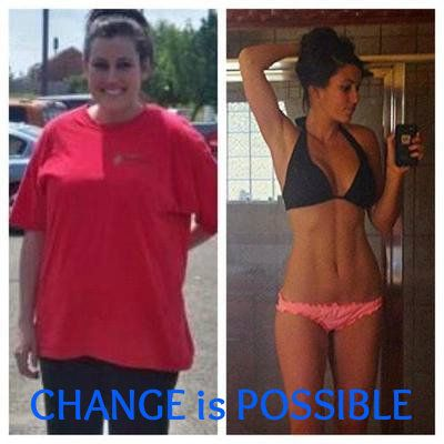 Change is Possible www.mydreamshape.com - #Fitness #fitspiration I don't even have this far to go! There is absolutely NO excuse for me not to make it!