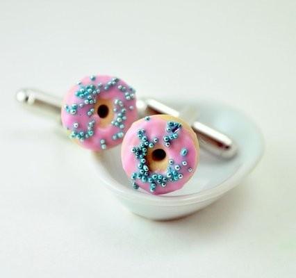 Donut Cufflinks DIVINEsweetness