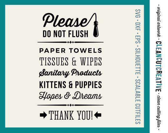 7848bc35d98a9 SVG Do not Flush Hopes & Dreams svg funny toilet quote svg bathroom ...