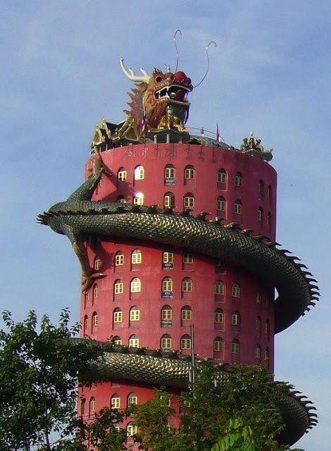 Drachen-Tempel-Bangkok, Thailand 1493