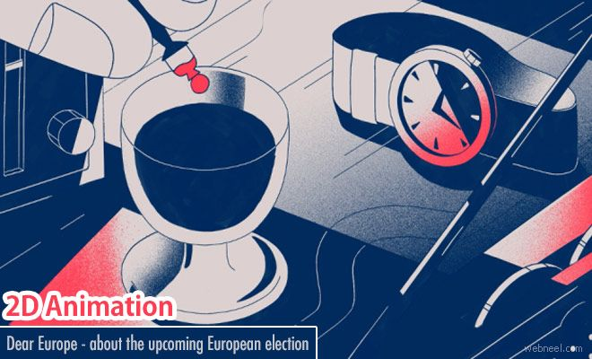 Dear Europe - 2D Animation Video about upcoming European election by Erica Gorochow http://webneel.com/europe-2d-animation | Design Inspiration http://webneel.com | Follow us www.pinterest.com/webneel