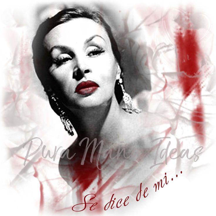 """#frasesdiseño #tango # #arte  #ropa Diseño exclusivo de Pura Maña Ideas,""""Tita Merello, Se dice de mi""""  de la linea MUJERES"""