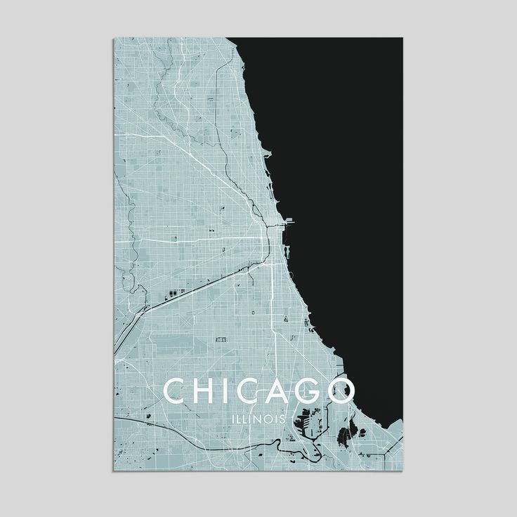 Houston Chicago Map%0A Chicago  Illinois   City Map Print  Style