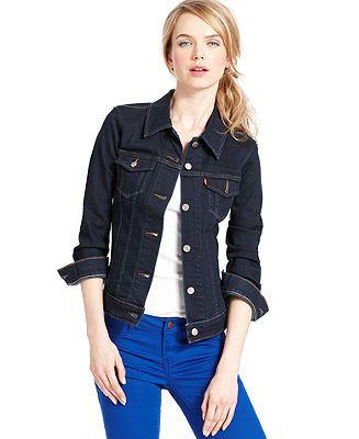 Womens dark denim jacket