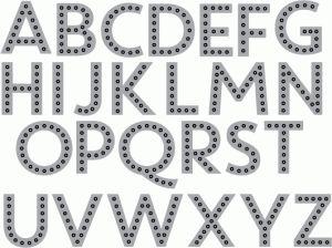 Papertrey Ink - Sew Stylish Alphabet 2 Die (June 2014 Release)