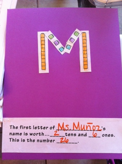 how to teach tens and ones to first grade