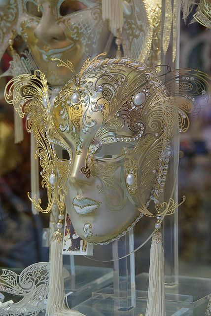 Pearl Carnival Mask~ When I was a teenager,I used to have a set of masks that I hung in my bedroom. It would be nice to find a nice collection and do that again. This one is really pretty. :)