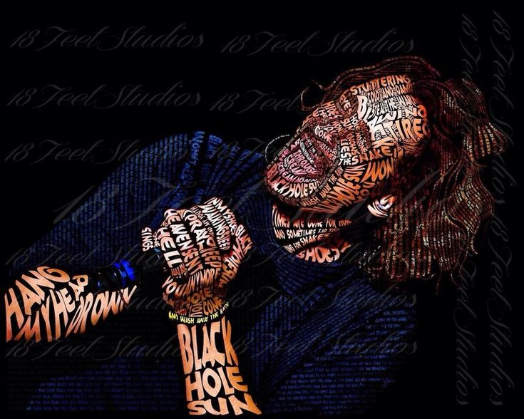 Chris Cornell Typography Portrait by lilysmom85.deviantart.com on @DeviantArt
