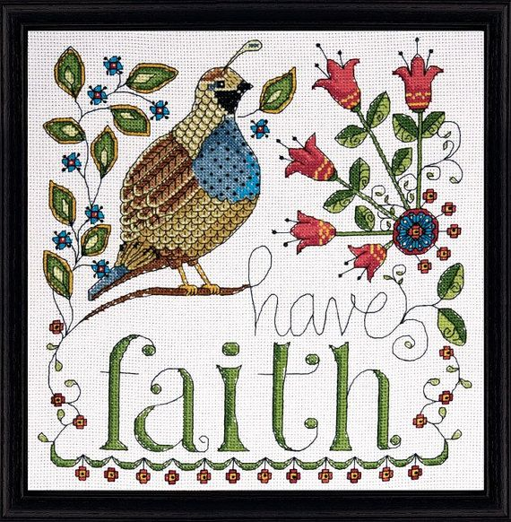 Design Works - Have Faith, Counted Cross Stitch Kit, NEW