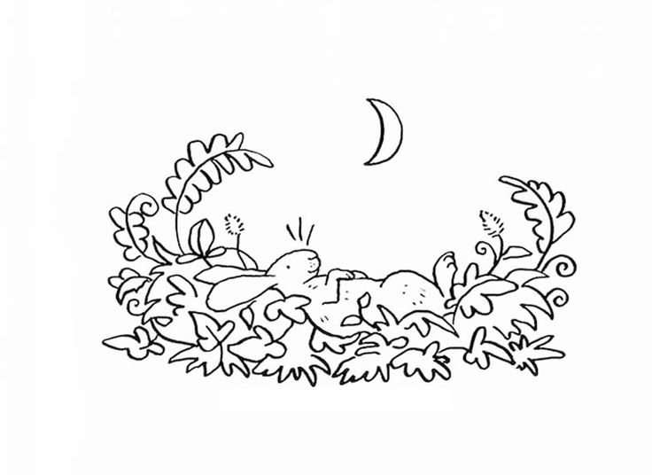 Guess How Much I Love You Little Nutbrown Hare Sleeping on Grass Coloring Pages