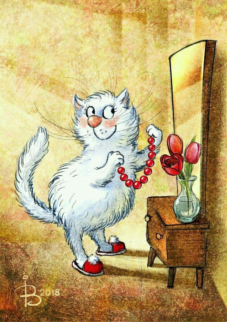 парикмахерская открытки с котом