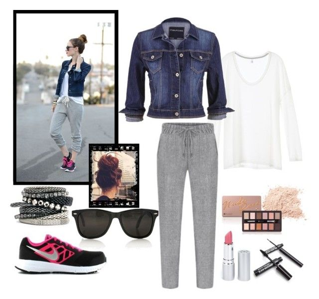 """""""Street Style #4"""" by desiresinstyle on Polyvore featuring moda, maurices, NIKE, H&M e HoneyBee Gardens"""