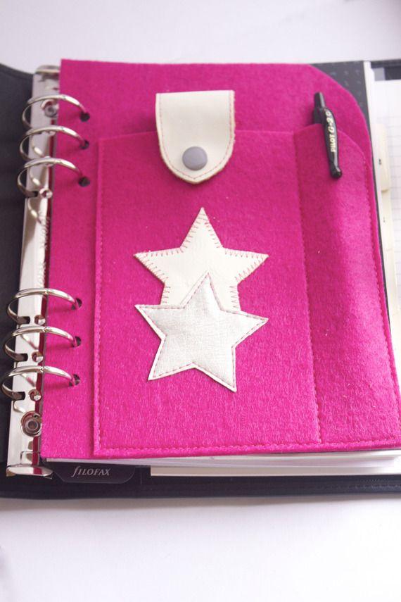 Housse/pochette téléphone portable en feutre pour Filofax A5 ou Exatime 21