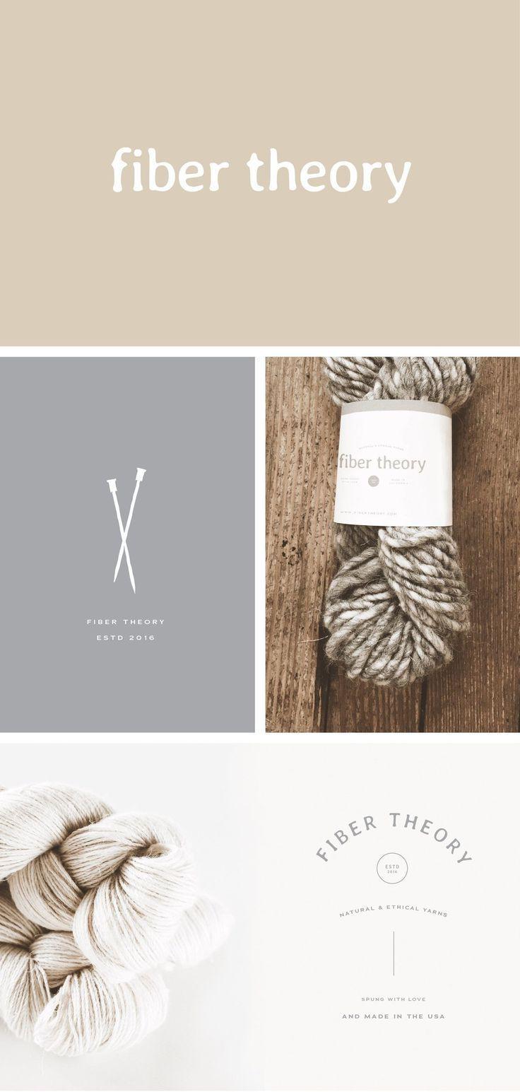 fiber theory graphic design inspiration logo yarn branding rh pinterest com