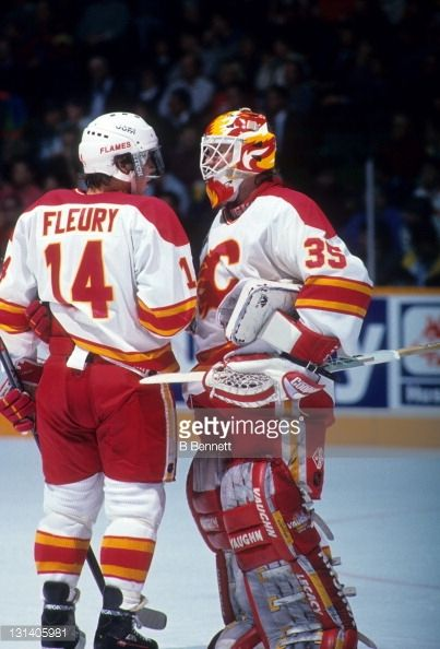 Feb. 10, 1993 Calgary Flames Jeff Reese became first (and only) goalie in NHL history to record 3 assists in a game. with Theoren Fleury.