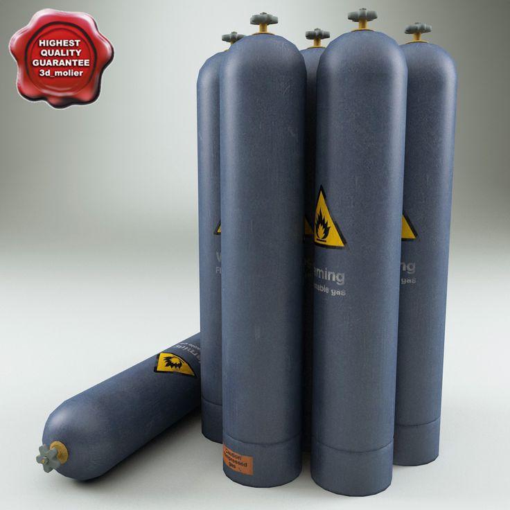 Lwo Helium Gas Cylinder - 3D Model