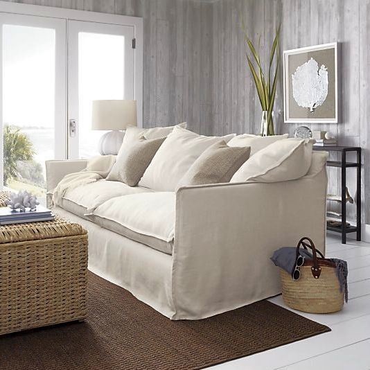 The Perfect Beach House Sofa. Yes, Itu0027s A Plushy And Wonderfully  Comfortable As It