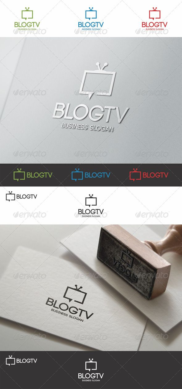 Blog TV Talk Logo suitable for websites, tv blogs, online tv, tv forums, chat rooms, blogs, tv channels, video channels, video blogs, media business, entertainment, movie bloggers, television studio, youtube profiles, applications, etc.
