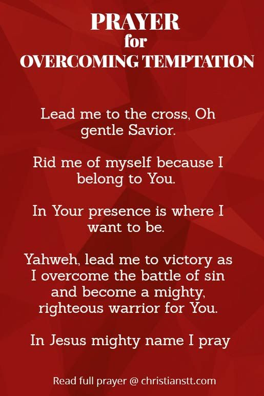 Prayer for Overcoming Temptation   Spiritual Warfare Prayers