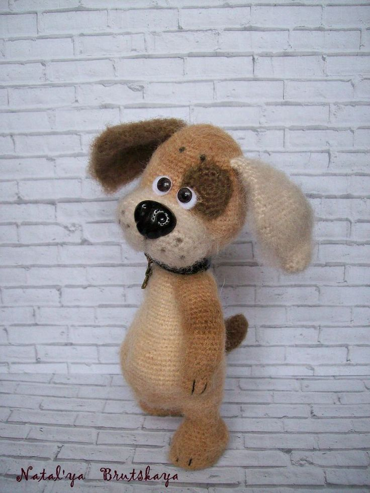 Little dog by Natalia Brutskaya (NIB) #amigurumi